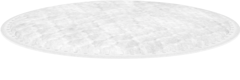 top of cotton round